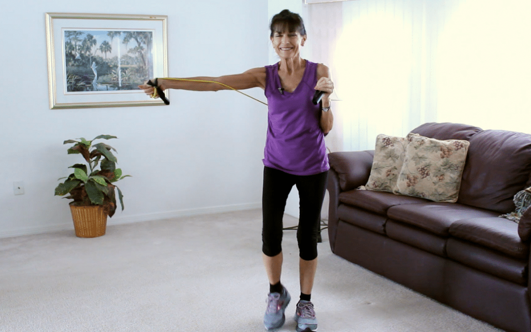Walking Workout With Resistance Bands