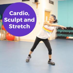 Live senior cardio class