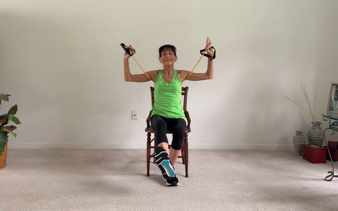 Resistance Band Workout With A Chair